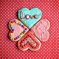 Heart Shaped Love Cookies by Kelly Sillaste