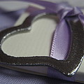 Heart With Purple Ribbon by Carrie Munoz