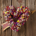Heart Wreath With Weather Vane Arrow by Garry Gay
