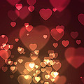 Hearts Background by Carlos Caetano