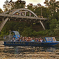 Hellgate Jet Boat And Caveman Bridge by Mick Anderson