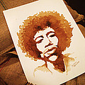 Hendrix Coffee Art Portrait by Dirceu Veiga