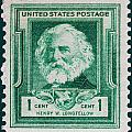 Henry W Longfellow Postage Stamp by James Hill