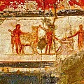 Herculaneum Wall Painting by Eric Tressler