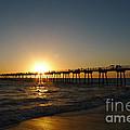 Hermosa Beach Sunset by Nina Prommer
