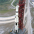 High Angle View  Of The Apollo 15 Space by Stocktrek Images