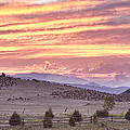 High Park Fire Larimer County Colorado At Sunset by James BO Insogna