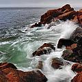 High Tide At Bass Harbor Head by Rick Berk