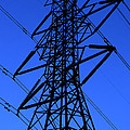 High Voltage Power Line Silhouette by Gary Whitton