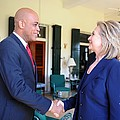 Hillary Clinton Meets With Haitian by Everett