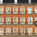 Historic Facade At Plaza Mayor In Madrid by Artur Bogacki