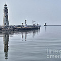Historic Lighthouse On Lake Erie by Phil Pantano
