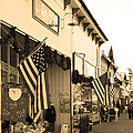 Historic Niles District In California Near Fremont . Main Street . Niles Boulevard . 7d10693 . Sepia by Wingsdomain Art and Photography