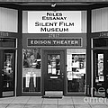 Historic Niles District In California Near Fremont . Niles Essanay Silent Film Museum . 7d10684 Bw by Wingsdomain Art and Photography