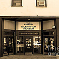 Historic Niles District In California Near Fremont . Niles Essanay Silent Film Museum.7d10683.sepia by Wingsdomain Art and Photography