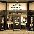Historic Niles District In California Near Fremont . Niles Essanay Silent Film Museum.7d10684.sepia by Wingsdomain Art and Photography