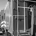 Historic Niles District In California Near Fremont . Western Pacific Caboose Train . 7d10622 . Bw by Wingsdomain Art and Photography