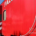 Historic Niles District In California Near Fremont . Western Pacific Caboose Train . 7d10724 by Wingsdomain Art and Photography