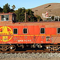 Historic Niles Trains In California . Old Sante Fe Caboose . 7d10832 by Wingsdomain Art and Photography