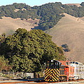 Historic Niles Trains In California . Old Southern Pacific Locomotive And Sante Fe Caboose . 7d10817 by Wingsdomain Art and Photography