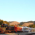 Historic Niles Trains In California . Old Southern Pacific Locomotive And Sante Fe Caboose . 7d10869 by Wingsdomain Art and Photography