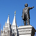 Historic Salt Lake Mormon Lds Temple And Brigham Young by Gary Whitton