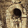 Historical Brick Kiln Oven Opening Decatur Alabama Usa by Kathy Clark