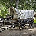 Historical Frontier Covered Wagon by Randall Nyhof