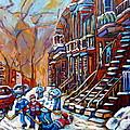 Hockey Art Montreal Streets by Carole Spandau