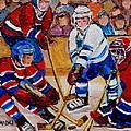 Hockey Game Scoring The Goal by Carole Spandau