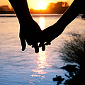 Holding Hands Silhouette by Cindy Singleton