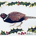 Holiday Pheasant Card by Abelone Petersen