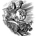 Holiday Train, Conceptual Artwork by Bill Sanderson