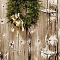 Holiday Wreath On The Farm by Ray Rothaug