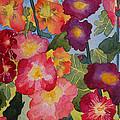 Hollyhocks In Bloom by Kimberlee Weisker