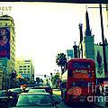 Hollywood Boulevard In La by Susanne Van Hulst