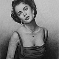 hollywood greats Elizabeth Taylor by Andrew Read