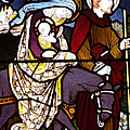 Holy Family Stained Glass by Munir Alawi