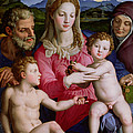 Holy Family With St Anne And The Infant St John The Baptist by Agnolo Bronzino