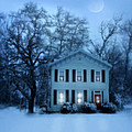 Home On A Wintery Evening by Jill Battaglia