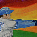 Home Run Swing Baseball Batter by First Star Art
