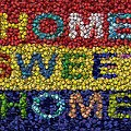 Home Sweet Home Bottle Cap Mosaic  by Paul Van Scott