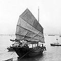 Hong Kong Harbor - Chinese Junk Boat - C 1907 by International  Images