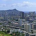 Honolulu And Diamond Head by Daniel Hagerman