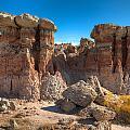 Hoodoos At Gooseberry Desert Wyoming by Steve Gadomski