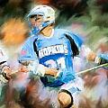 College Lacrosse Midfielder by Scott Melby