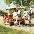 Horse Carriage Mackinac Island Michigan by Anne Kitzman