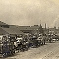 Horse Drawn Wagons Crowd New York Piers by Everett