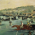 Horse Racing by Edouard Manet
