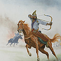 Horsemen From The Steppes by English School